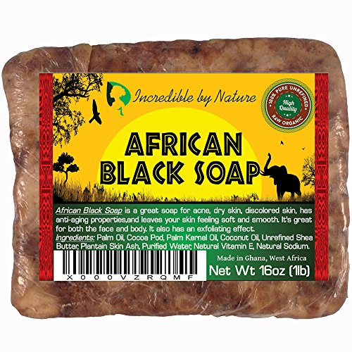 Best Quality African Black Soap - Raw Organic Soap for Acne, Eczema